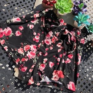Other - Girls Pink and black floral skirt size small
